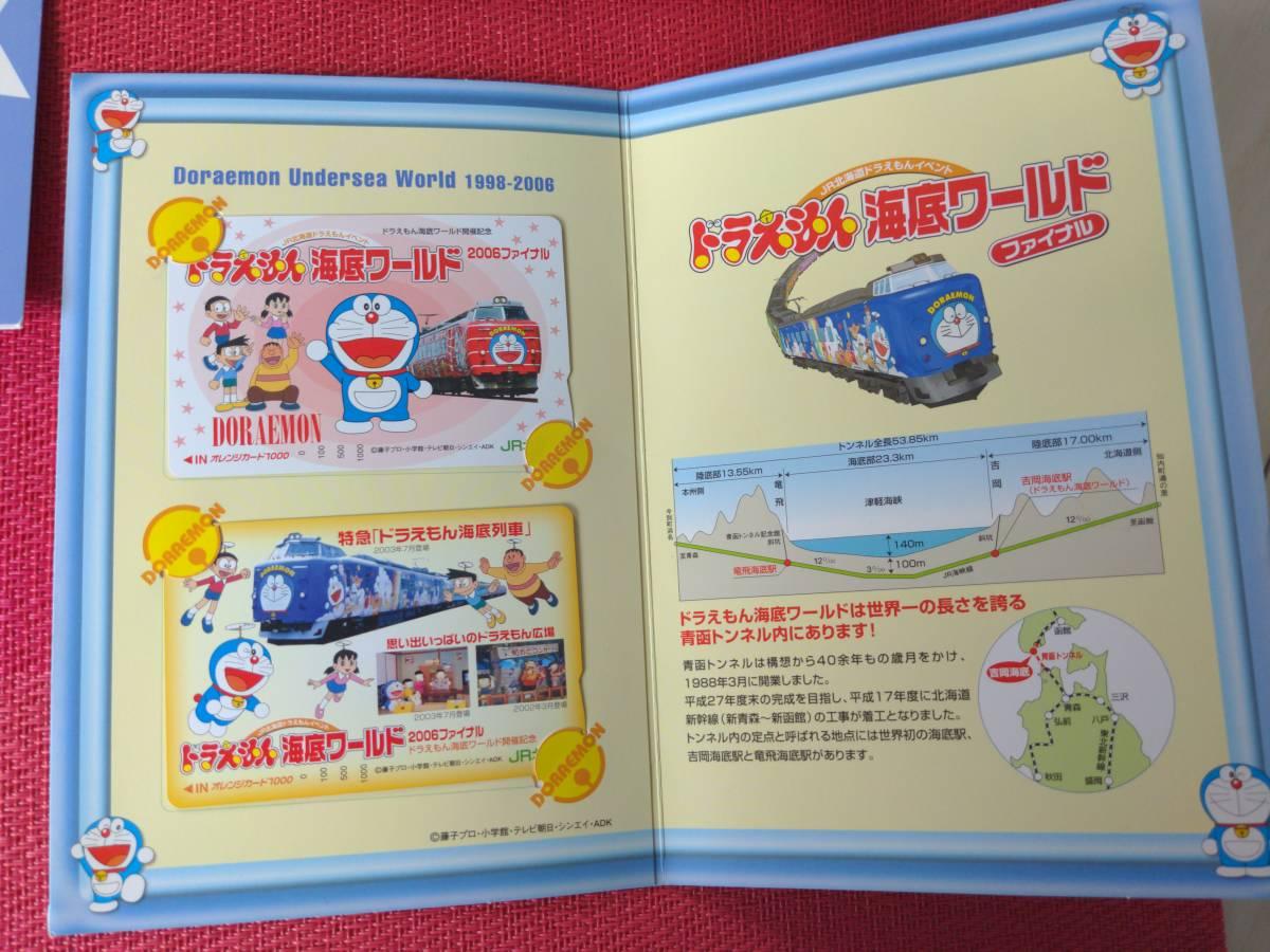 JR北海道/ドラえもん/海底列車/海底ワールド/2006年ファイナル/オレンジカード/1000円×2枚/オリジナル台紙&シール付/うちわ/乗車限定購入_画像5