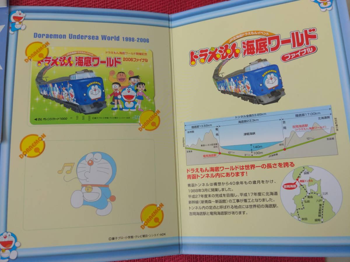 JR北海道/ドラえもん/海底列車/海底ワールド/2006年ファイナル/オレンジカード/1000円×1枚/オリジナル台紙&シール付/うちわ/乗車限定購入_画像4