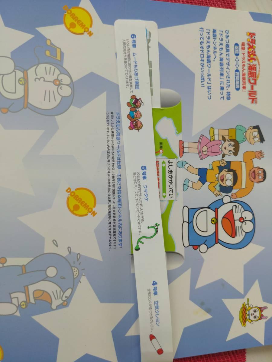 JR北海道/ドラえもん/海底列車/海底ワールド/2006年ファイナル/オレンジカード/1000円×1枚/オリジナル台紙&シール付/うちわ/乗車限定購入_画像3