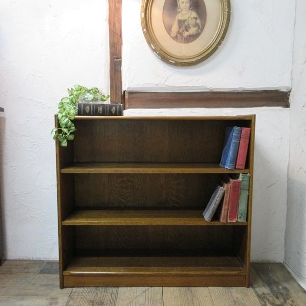 イギリス アンティーク 家具 ブックケース 本棚 書棚 シェルフ 飾り棚 収納家具 店舗什器 英国 BOOKCASE 6408b_画像1
