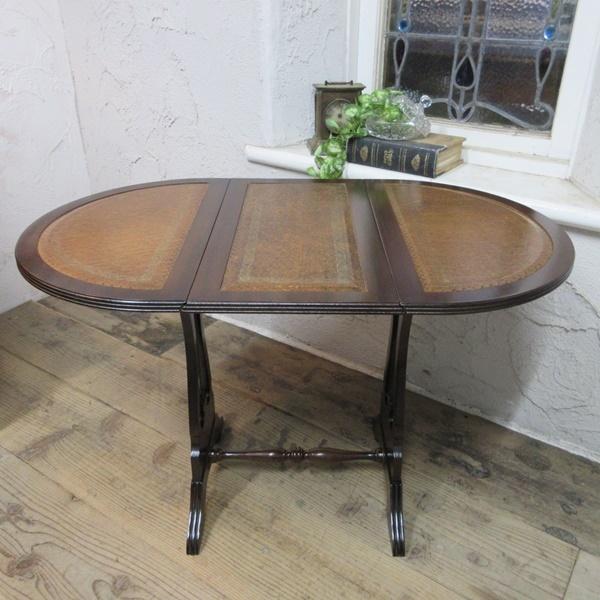 イギリス アンティーク 家具 コーヒーテーブル サイドテーブル バタフライ 木製 マホガニー 店舗什器 英国 SMALLTABLE 6420b_画像2