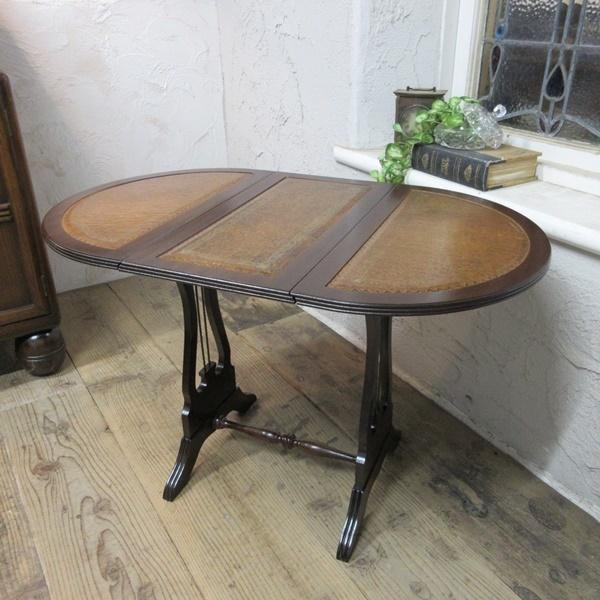 イギリス アンティーク 家具 コーヒーテーブル サイドテーブル バタフライ 木製 マホガニー 店舗什器 英国 SMALLTABLE 6420b_画像1