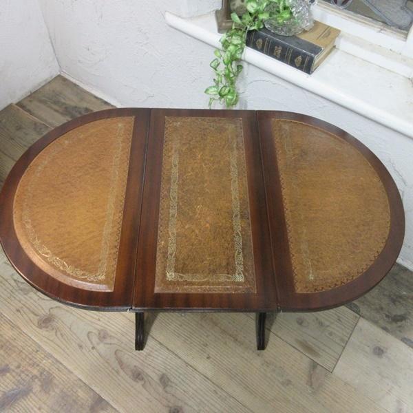 イギリス アンティーク 家具 コーヒーテーブル サイドテーブル バタフライ 木製 マホガニー 店舗什器 英国 SMALLTABLE 6420b_画像3