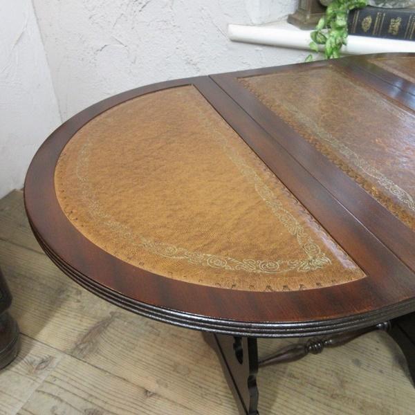 イギリス アンティーク 家具 コーヒーテーブル サイドテーブル バタフライ 木製 マホガニー 店舗什器 英国 SMALLTABLE 6420b_画像9