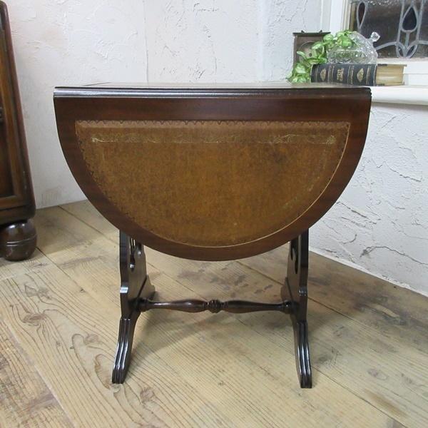 イギリス アンティーク 家具 コーヒーテーブル サイドテーブル バタフライ 木製 マホガニー 店舗什器 英国 SMALLTABLE 6420b_画像5