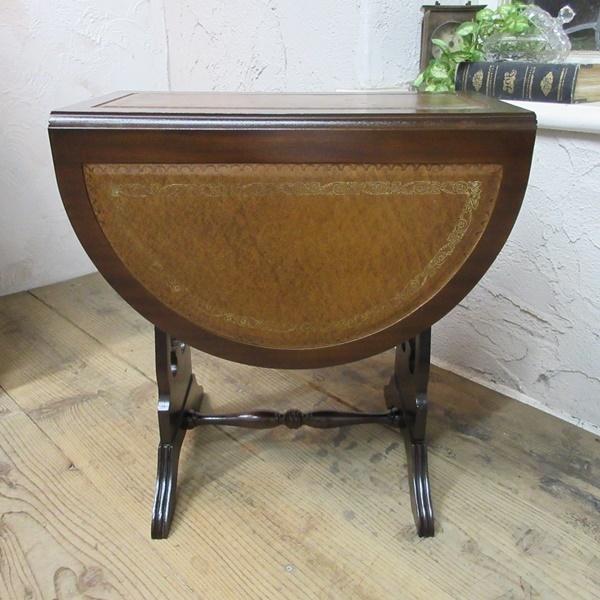 イギリス アンティーク 家具 コーヒーテーブル サイドテーブル バタフライ 木製 マホガニー 店舗什器 英国 SMALLTABLE 6420b_画像7