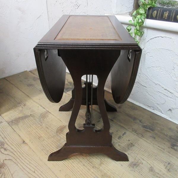 イギリス アンティーク 家具 コーヒーテーブル サイドテーブル バタフライ 木製 マホガニー 店舗什器 英国 SMALLTABLE 6420b_画像8