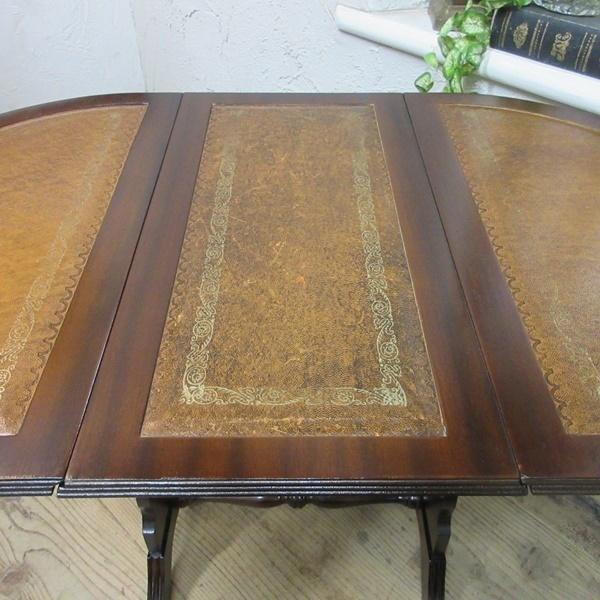 イギリス アンティーク 家具 コーヒーテーブル サイドテーブル バタフライ 木製 マホガニー 店舗什器 英国 SMALLTABLE 6420b_画像10