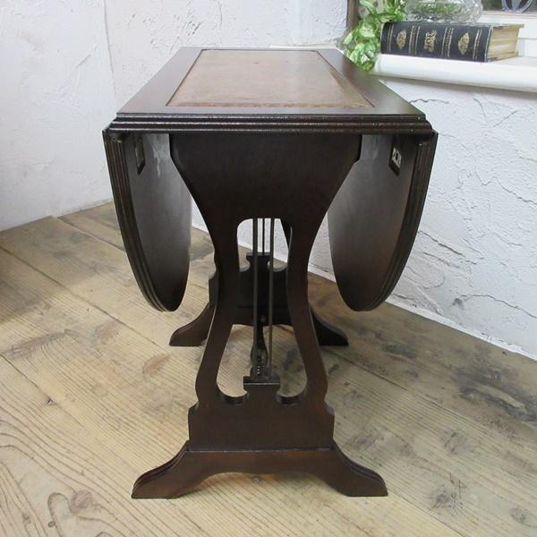イギリス アンティーク 家具 コーヒーテーブル サイドテーブル バタフライ 木製 マホガニー 店舗什器 英国 SMALLTABLE 6420b_画像6