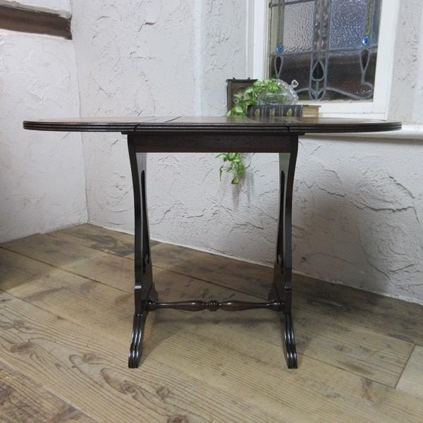 イギリス アンティーク 家具 コーヒーテーブル サイドテーブル バタフライ 木製 マホガニー 店舗什器 英国 SMALLTABLE 6420b_画像4