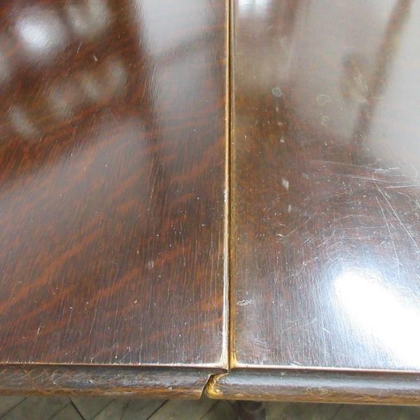 イギリス アンティーク 家具 ダイニングテーブル バタフライ ゲートレッグテーブル ツイストレッグ 木製 オーク 英国 TABLE 6486b_画像9