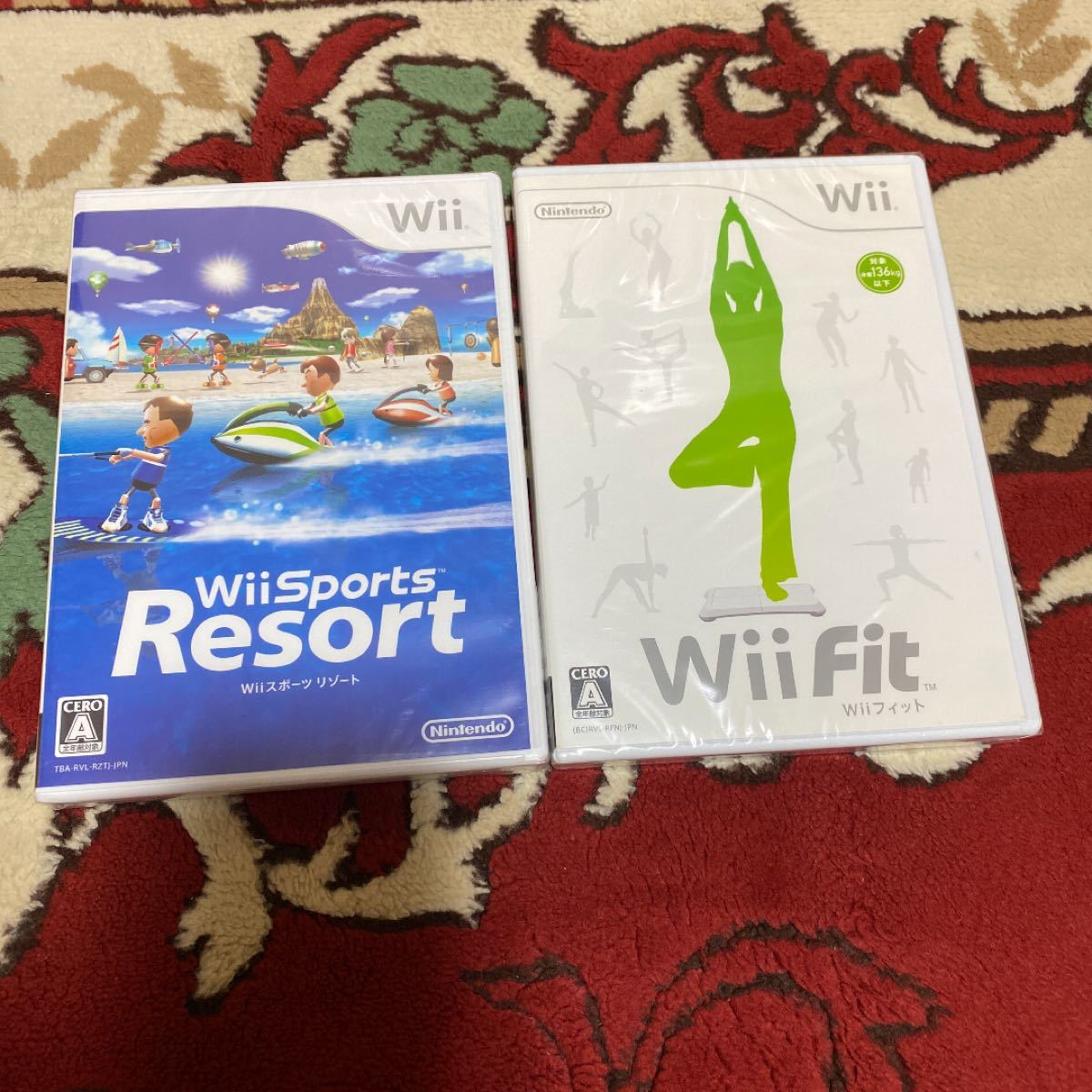 wiiスポーツリゾート&wiiフィット 新品未開封品セット