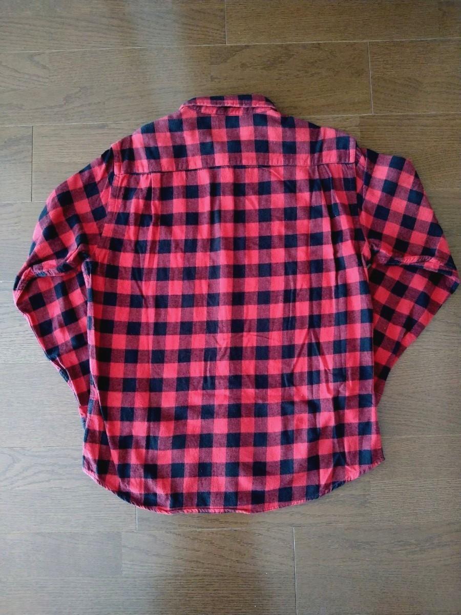 長袖シャツ チェックシャツ メンズ L レイジブルー