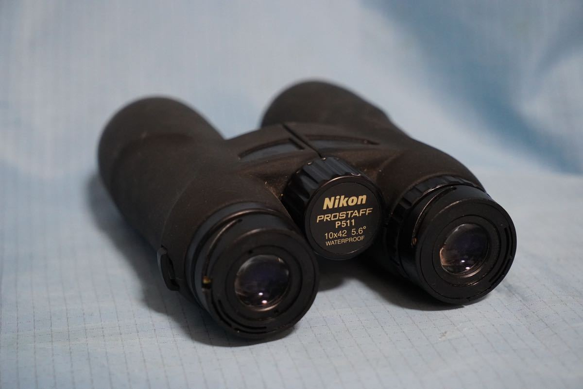 ニコン製 双眼鏡 Nikon PROSTAFF P 511 10×42 5.6° WATERPROOF 難あり ◇ ジャンク品_画像4