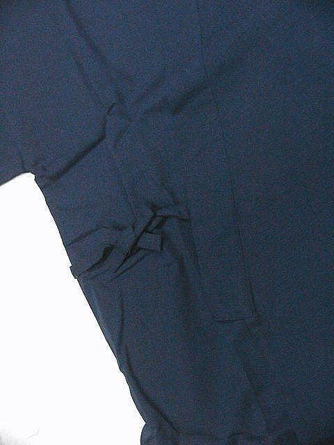 わけあり品 濃紺色地 綿100%・シャンタン生地 作務衣 LLサイズ 未使用品_画像5