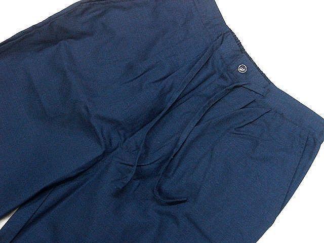 わけあり品 濃紺色地 綿100%・シャンタン生地 作務衣 LLサイズ 未使用品_画像7