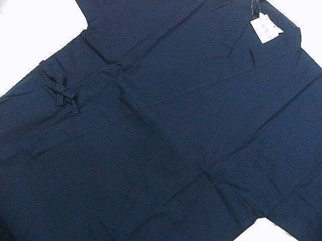 わけあり品 濃紺色地 綿100%・シャンタン生地 作務衣 LLサイズ 未使用品_画像3