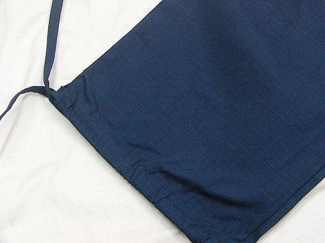 わけあり品 濃紺色地 綿100%・シャンタン生地 作務衣 LLサイズ 未使用品_画像8
