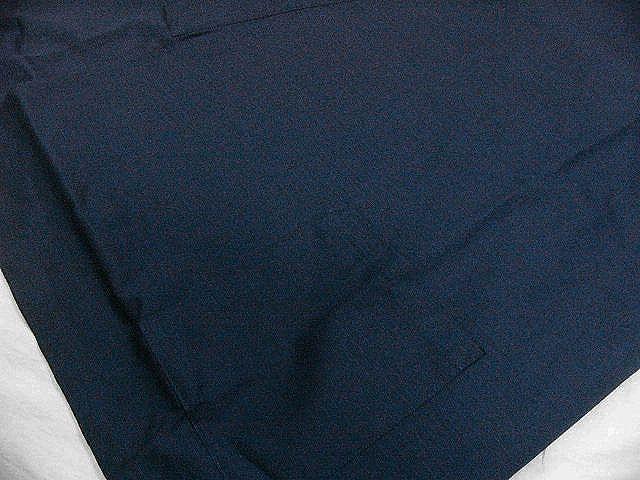 わけあり品 濃紺色地 綿100%・シャンタン生地 作務衣 LLサイズ 未使用品_画像4