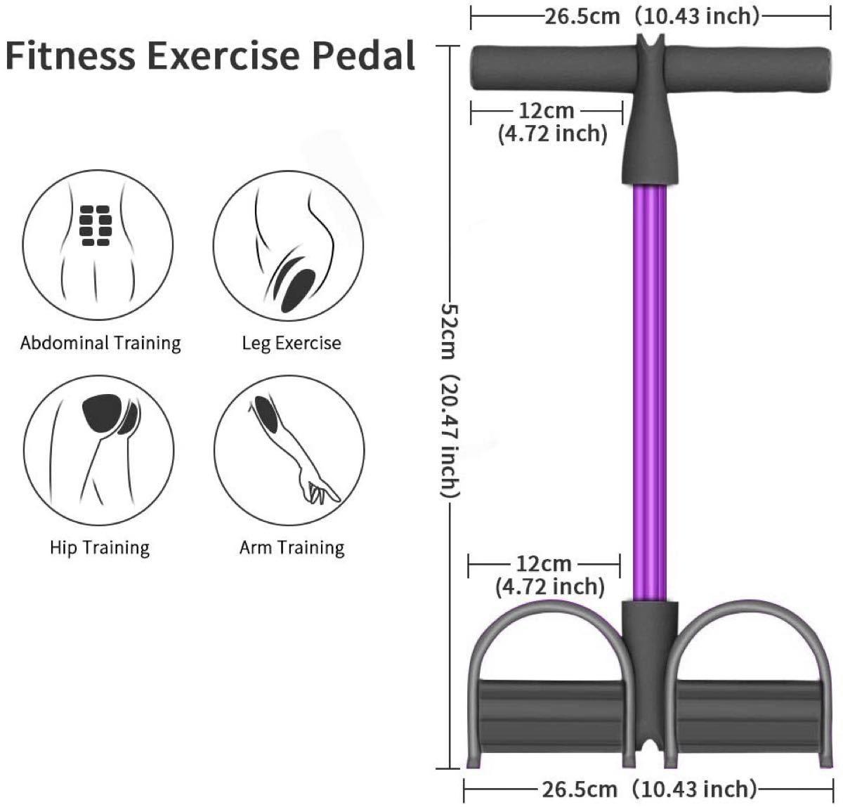 トレーニングチューブ  ペダルプラー 腹筋エクササイズ  ダイエット 美尻 腹筋