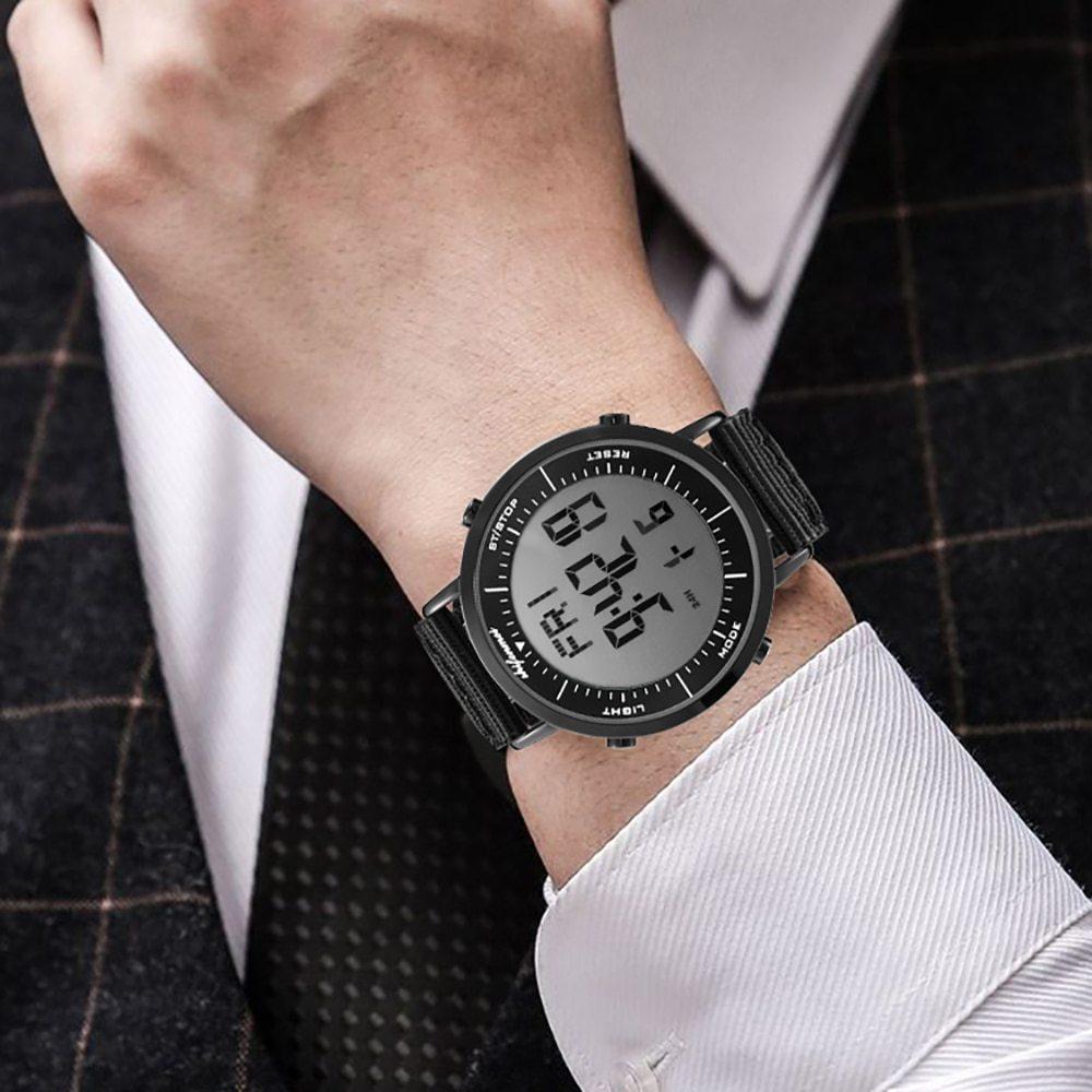 デジタル時計 男性用 メンズ スポーツ時計 防水 目覚まし時計 多機能 屋外 腕時計 アウトドア おしゃれ 3_画像3