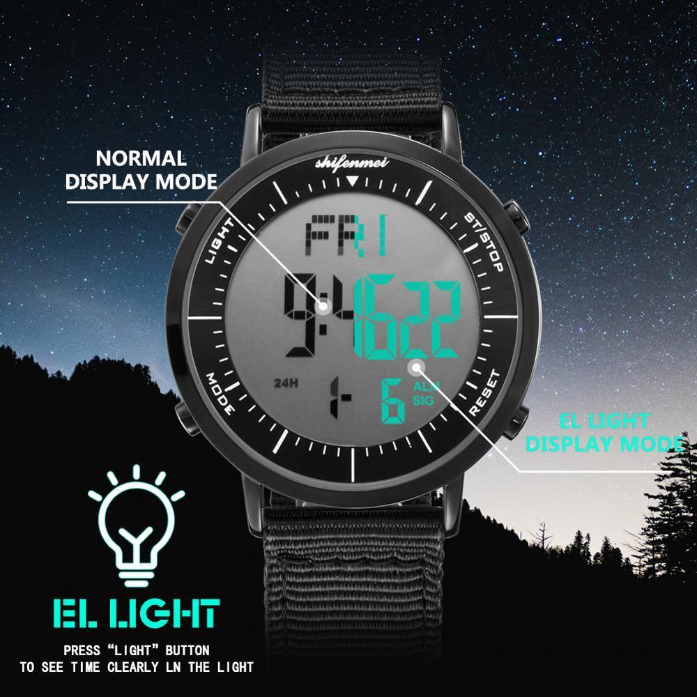 デジタル時計 男性用 メンズ スポーツ時計 防水 目覚まし時計 多機能 屋外 腕時計 アウトドア おしゃれ 3_画像5