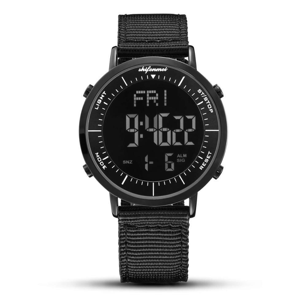 デジタル時計 男性用 メンズ スポーツ時計 防水 目覚まし時計 多機能 屋外 腕時計 アウトドア おしゃれ 7_画像1