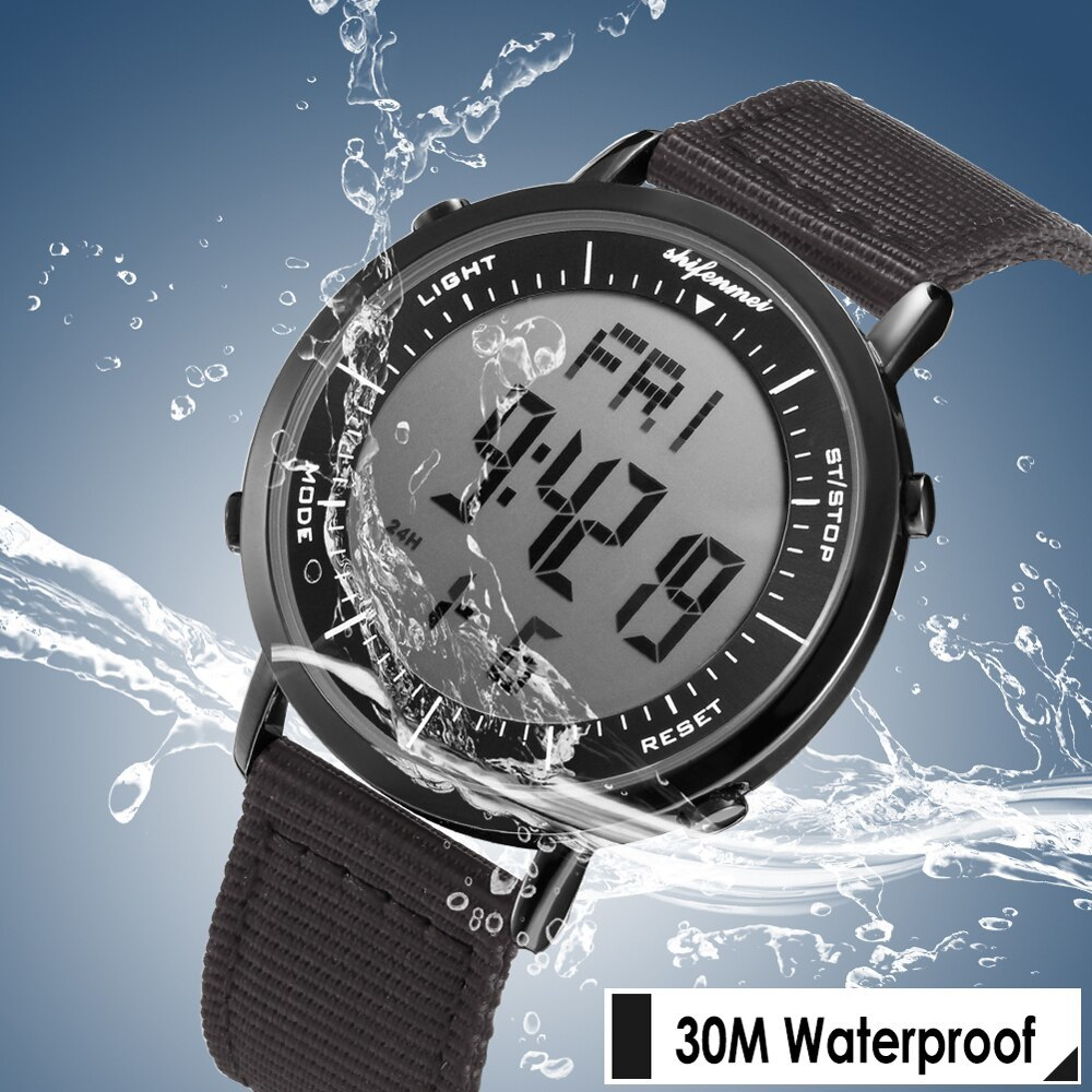 デジタル時計 男性用 メンズ スポーツ時計 防水 目覚まし時計 多機能 屋外 腕時計 アウトドア おしゃれ 7_画像4