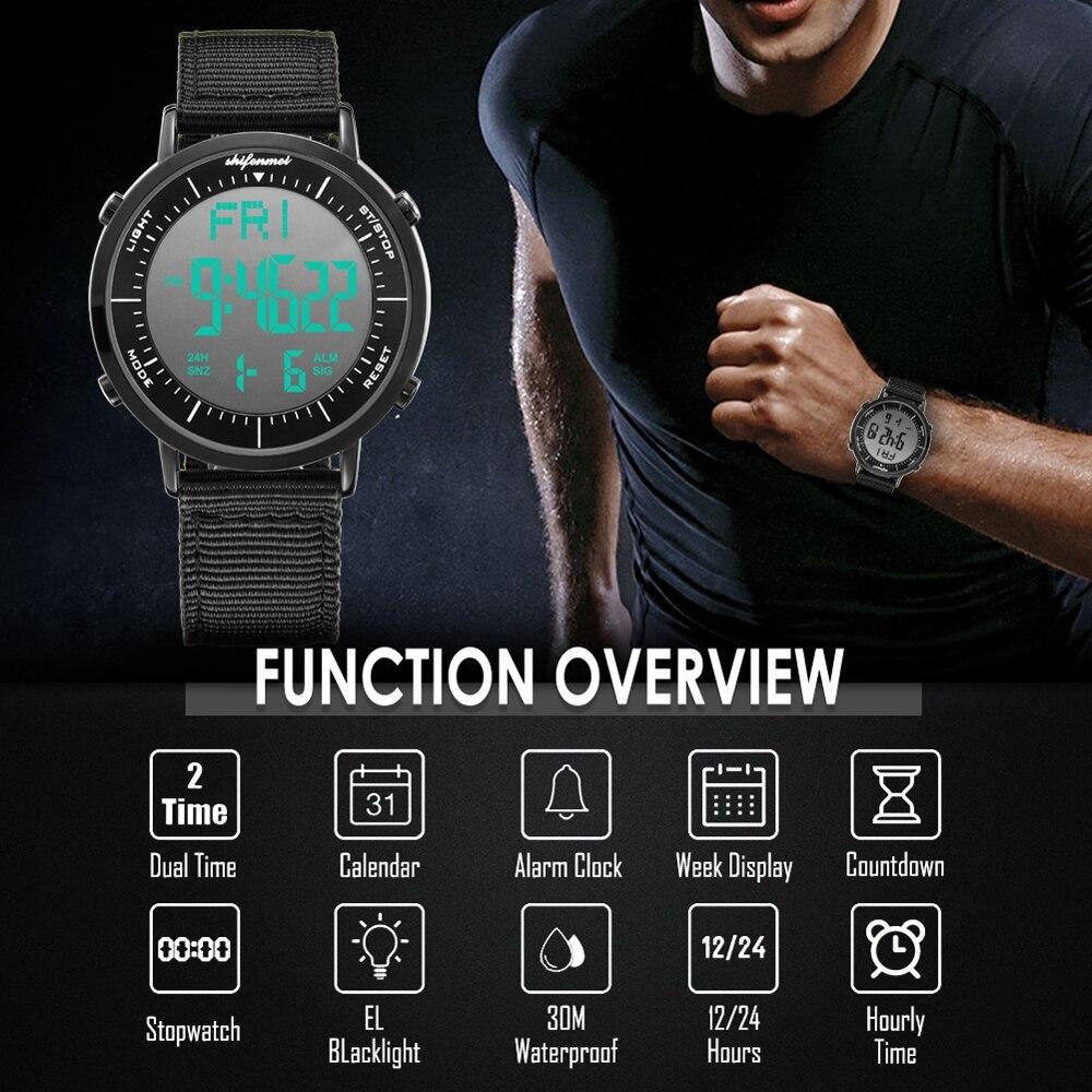 デジタル時計 男性用 メンズ スポーツ時計 防水 目覚まし時計 多機能 屋外 腕時計 アウトドア おしゃれ 7_画像6