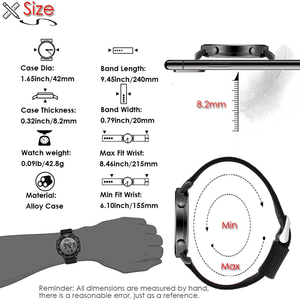デジタル時計 男性用 メンズ スポーツ時計 防水 目覚まし時計 多機能 屋外 腕時計 アウトドア おしゃれ 7_画像7