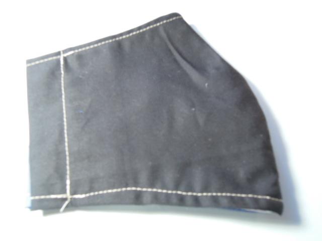 立体インナー マスク 青&黒色 お洒落なライン柄  ハンドメイド☆_黒色です