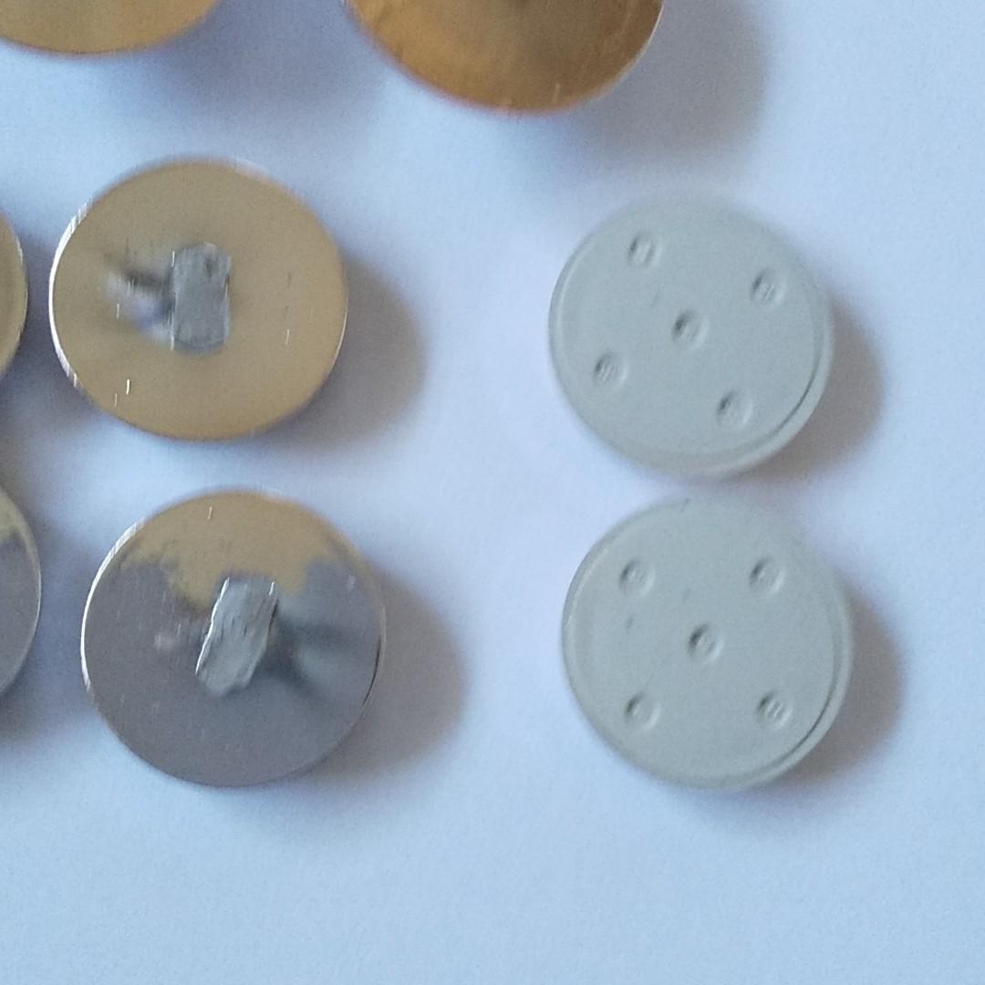 アンティークボタン風カボション 22個まとめ売り 貼り付けパーツ/デコパーツ