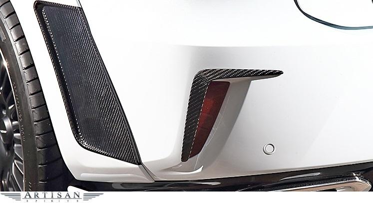 【M's】LEXUS 20系 前期 RX 300 200t 350 450h F SPORT (2015.10-2019.7) ARTISAN SPIRITS リアバンパーガーニッシュ 2P / FRP エアロ_※画像はカーボン(CFRP)のサンプル。