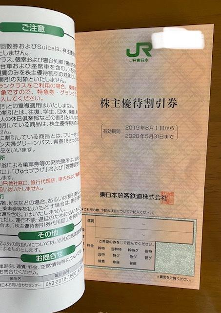 【送料込】即決★JR東日本(東日本旅客鉄道株式会社) 株主優待割引券 2枚綴り 有効期限2021年5月31日_画像2