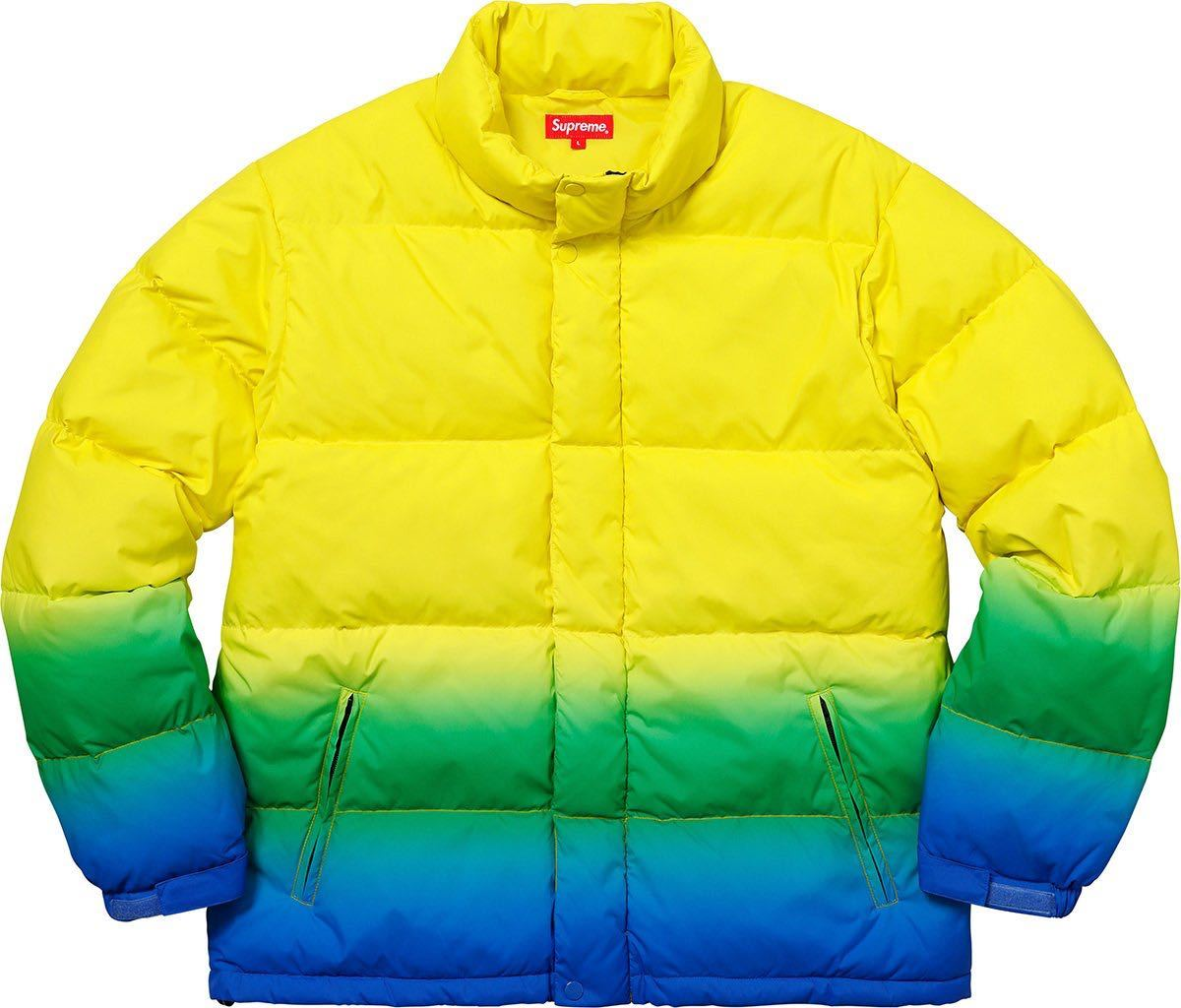 18ss Supreme - Gradient Puffy Jacket