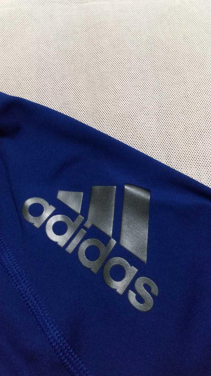 ☆新品☆ adidas (アディダス) コンプレッションウェア テックフィット ロングスリーブ ネイビー Oサイズ【送料無料】