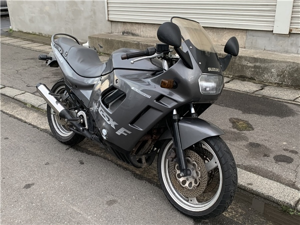 「青森発 S63 スズキ バイク GSX-F GK74A 始動確認済み セルスタート 返納証明/譲渡書あり 売切!!」の画像1