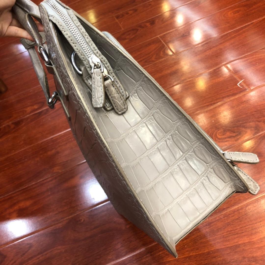 天然ワニ革 クロコダイルレザー ブリーフケース ハンドバッグ トートバッグ ビジネスバッグ メンズバッグ 本革 ファッション 鞄_画像4