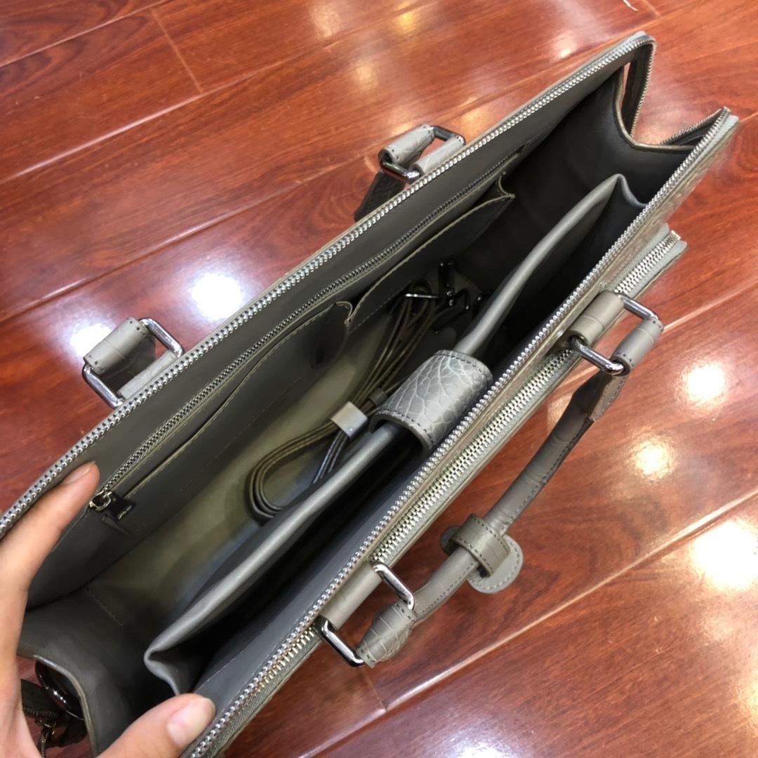 天然ワニ革 クロコダイルレザー ブリーフケース ハンドバッグ トートバッグ ビジネスバッグ メンズバッグ 本革 ファッション 鞄_画像9