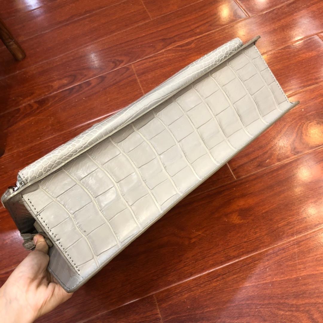 天然ワニ革 クロコダイルレザー ブリーフケース ハンドバッグ トートバッグ ビジネスバッグ メンズバッグ 本革 ファッション 鞄_画像5