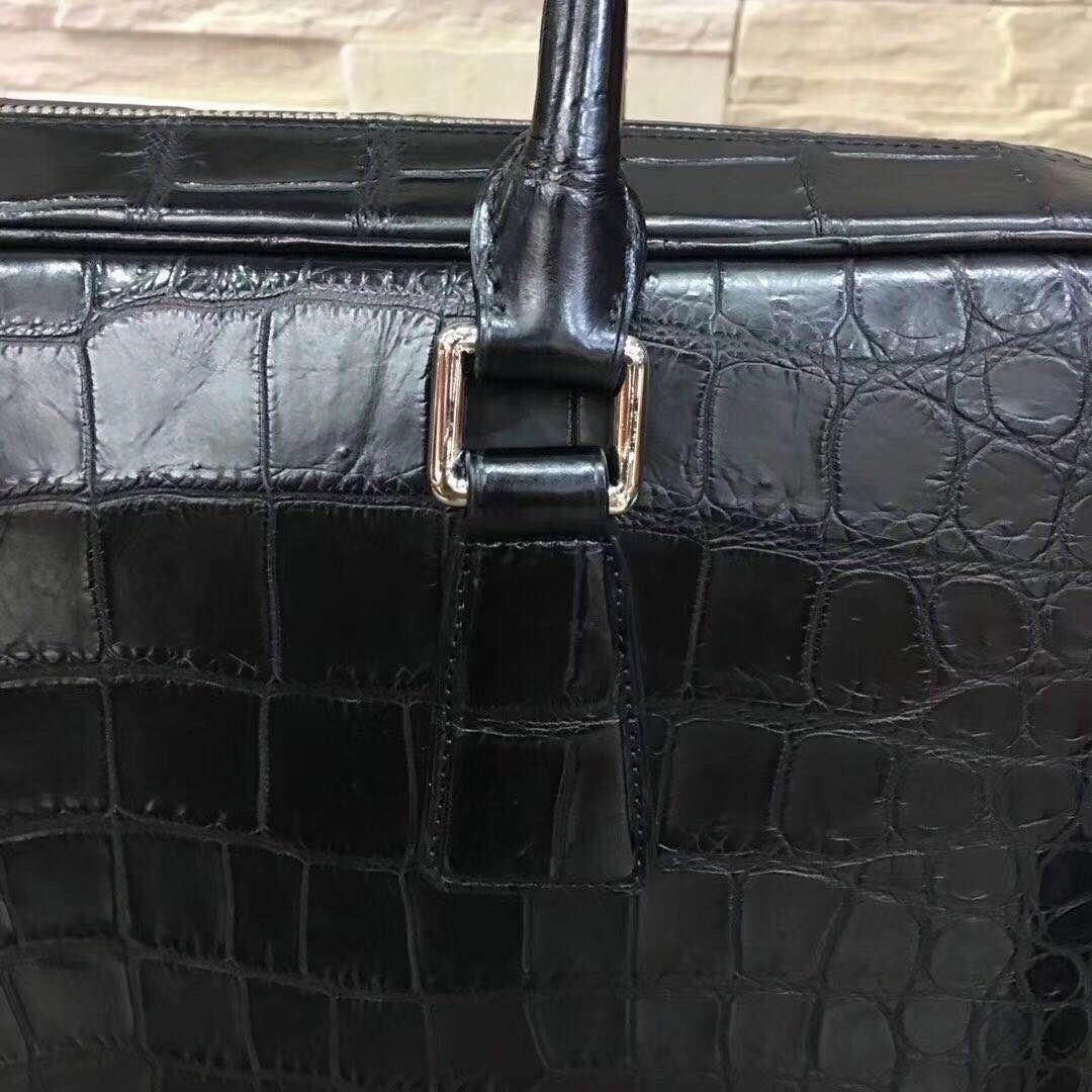 天然ワニ革 PC/A4対応 クロコダイルレザー 本革 書類かばん ブリーフケース トートバッグ ビジネス 仕事 メンズバッグ 通勤 鞄 プレゼント_画像8