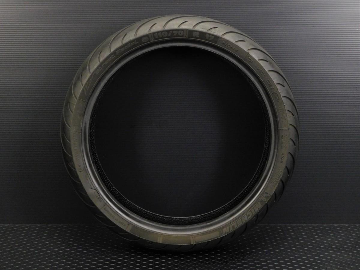 MICHELIN ミシュラン フロント タイヤ 110/70 R17 製造週年0416 山5分 足回り ホイール メンテ に♪_画像2