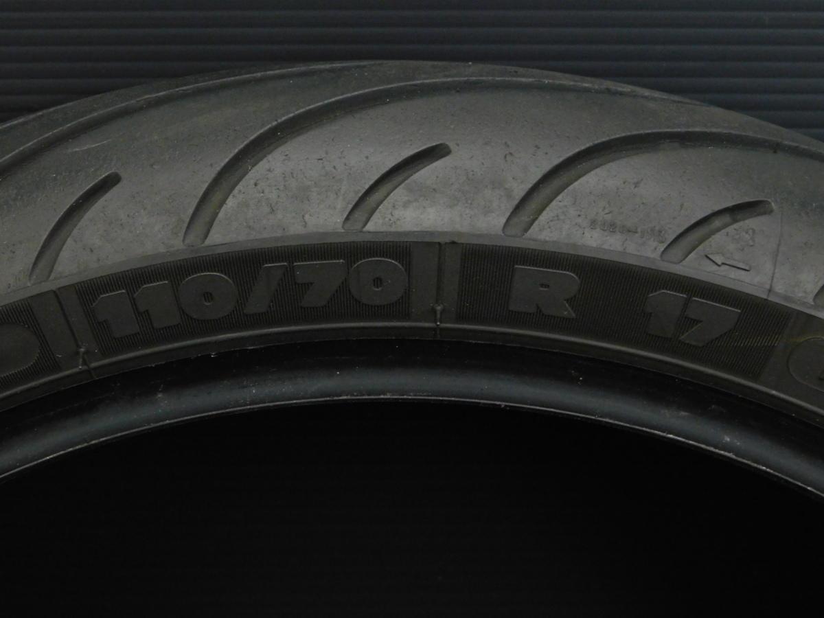 MICHELIN ミシュラン フロント タイヤ 110/70 R17 製造週年0416 山5分 足回り ホイール メンテ に♪_画像3