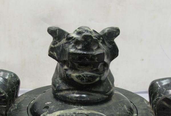香炉 (121)蛇紋石 30x20x22cm 龍 _画像5