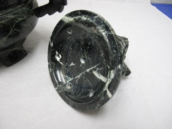 香炉 (121)蛇紋石 30x20x22cm 龍 _画像6