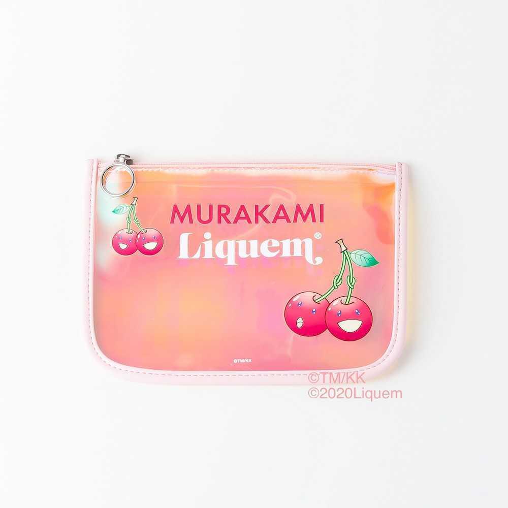 TM × Liquem pouch フラット ビニール ポーチ Takashi Murakami 村上 隆 お花 tonari no zingaro タカシ ムラカミ リキュエム