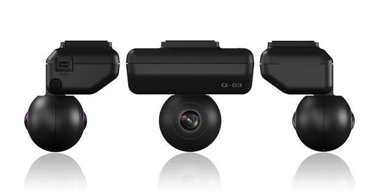 ユピテル 全天球ドライブレコーダー Q-03 360°デュアルカメラ 全方位720°(前後、左右、上下)映像を1台で記録可能_画像3