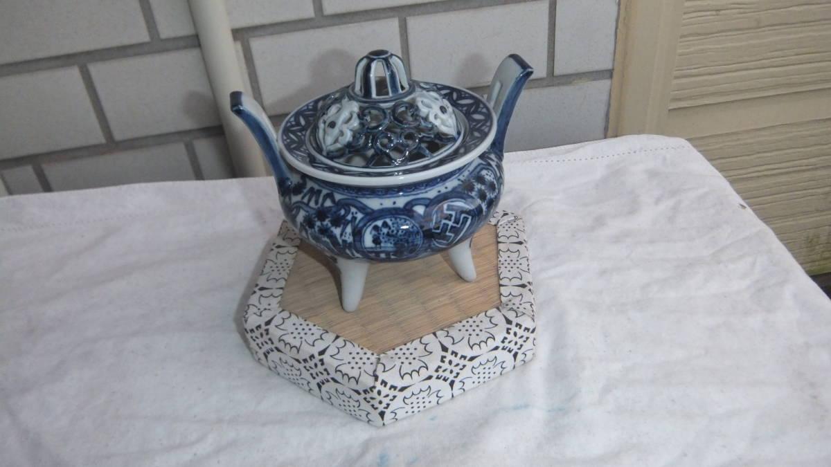 ○伊万里 角福香炉_画像1