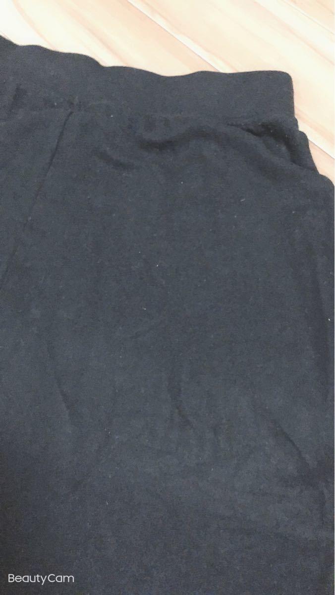 ユニクロ タイトスカート ロングスカート ブラック