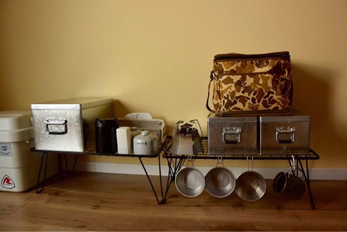 セール フィールドラック キャンプ収納 コンパクト 折り畳みテーブル 収納バッグ
